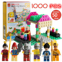 Third generation upgrade 1000pcs DIY Building Block Contain 50 Dolls Educational Toys Compatible With LegoINGly Bricks Gifts