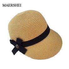 MAERSHEI Летняя шляпа для Для женщин пляжные Кепки Конный Кентукки шляпа котелок козырек Sobrero солнца Шапки для леди большой соломенная шляпа с полями с