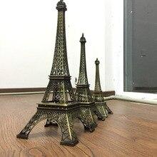 Torre Eiffel, adornos para el hogar, Torre francesa, Artesanía de metal, modelo de construcción de decoraciones de la torre de París