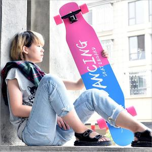 Image 3 - 117cm 전문 롱 보드 스케이트 보드 스트리트 댄스 롱 보드 스케이트 보드 다운 힐 메이플 데크 보드
