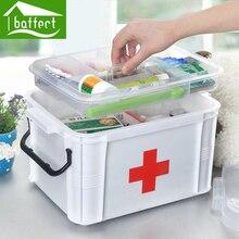 Baffect Gran Casa Familiar Botiquín Gabinete Caja De Almacenamiento de Drogas Kit de Primeros Auxilios De Plástico De Atención Médica Cómoda