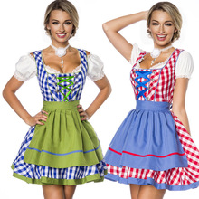 Germany beer festival clothes for women Promotion stage under cocktail party dress High-grade wine overalls
