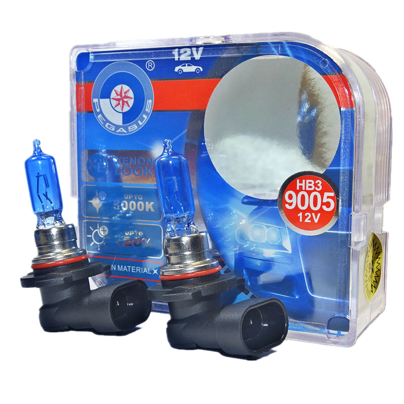 2Pcs 9005 HB3 65W 100W 4300K Xenon HID Yellow Car Headlight Fog Light Lamp Bulbs