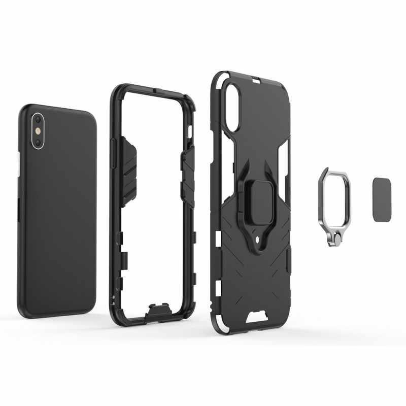 Fundas чехол для iPhone iPhine XS max X 8 7 Plus 6/6s Plus 5 S se XR противоударный Противоскользящий Броня автомобильный Магнитный чехол Caso