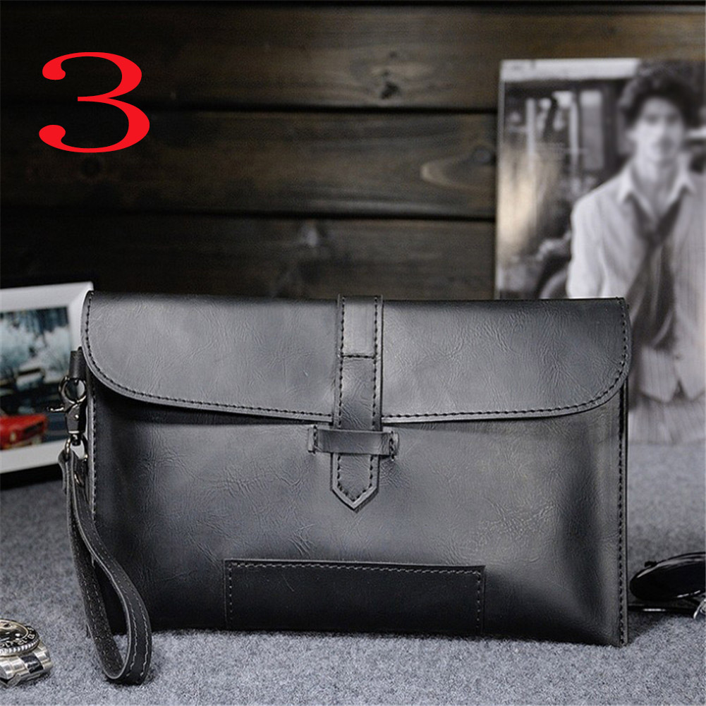 HTB1bwV7XiHrK1Rjy0Flq6AsaFXa3 Hot Sale Men PU Leather Business Work Handbag 2018 New Fashion Male Solid Color Envelope Bag Briefcase