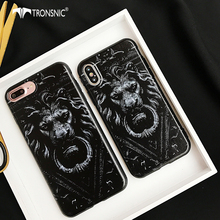 Tronsnic Fashion Luxury Tiger Case For iphone 7 7 Plus Soft Silicone Case Trend Relief Candy Back Cover Lion For iphone 8 8 plus