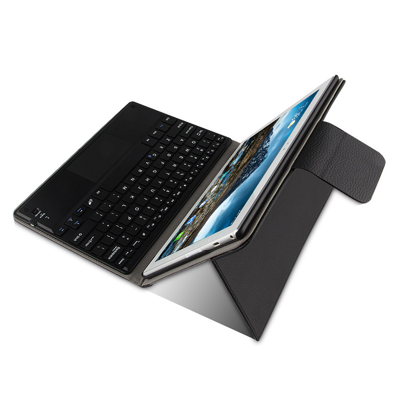 Pour Lenovo Tab 4 10 Plus TB-X704F/X704N 10.1 pouces tablette magnétique détachable Bluetooth clavier PU étui en cuir - 3