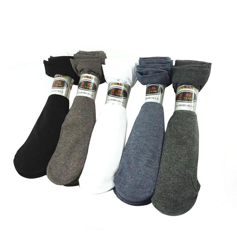 10 Pairs Men Crew Meias Sock Mercerized Cotton Summer Autumn Man Ultra-thin Breathable Male Shaping Sock Straight Fashion Socks