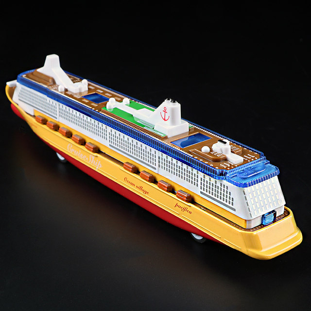 Online Shop Music Cruise Ship Model Electric Flashing Sound - Educational cruise ships