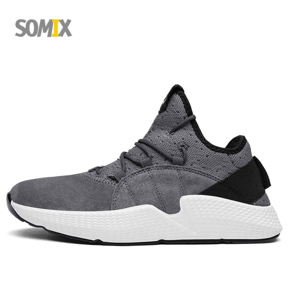 Somix New Running Shoes Men Sneakers Mesh Breathable Fitness Shoes Hard Court Outdoor Jogging Sneakers Light Sport Shoes for Men new running shoes for men 2017 outdoor breathable mesh light flat shoes comfortable sneakers athletics women lovers sport shoes