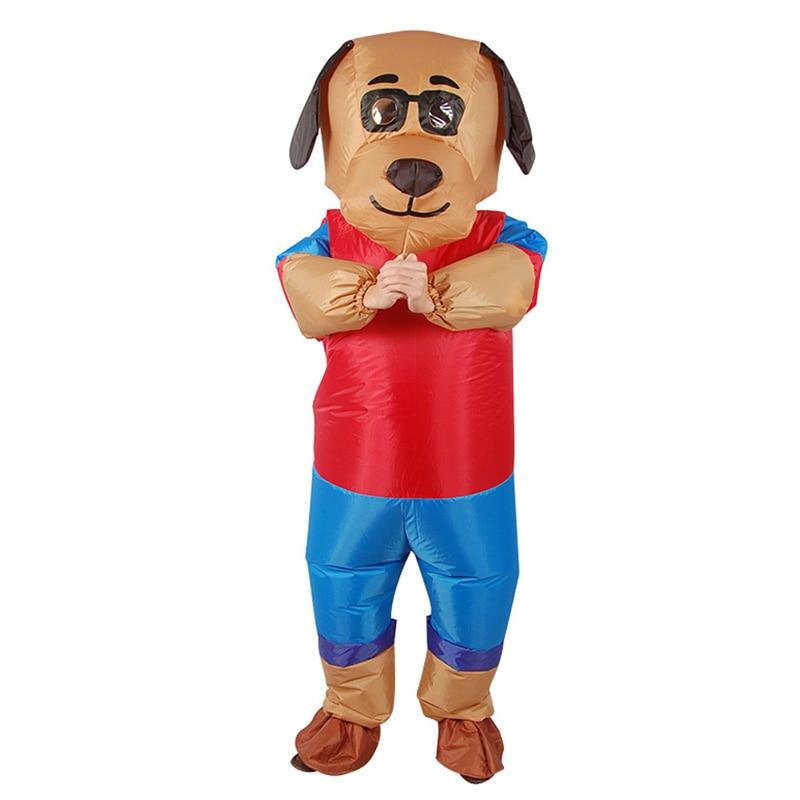 H & ZY Новый дизайн надувная собака мультфильм костюм косплэй для мужчин женщин веселое платье в виде животного комбинезон вечерние loween Y взор...