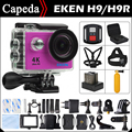 Action camera EKEN H9/H9R Ultra HD 4 K/25fps WiFi 2.0 LCD 170D lente Capacete Cam ir Pro Esporte câmera à prova d' água debaixo d' água