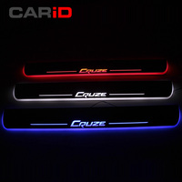 CARiD LED Car Scuff Plate Trim Pedal Door Sill Pathway Moving Welcome Light For Chevrolet Cruze 2015 2016 2017 2018 Accessories