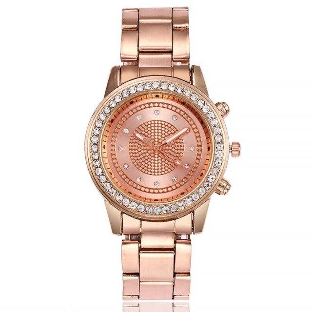 Gold Women Bracelet Watch Casual Rhinestone Stainless Steel Band Marble Strap Watch Diamond Quartz Sport Wrist Watch Relogio