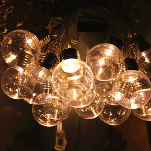 5 м 20 LED глобус струнный свет открытый G50 лампы сказочные огни гирлянда сад патио Свадебная вечеринка Рождественское украшение, легкая цепоч...
