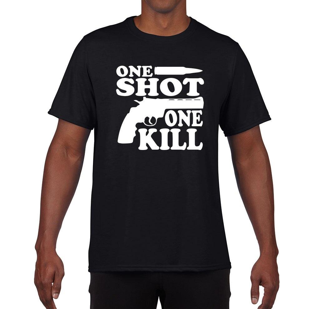 ONE SHOT One Kill Полые точки, Снайпер AR15, AK47 2nd поправка Футболка мужская