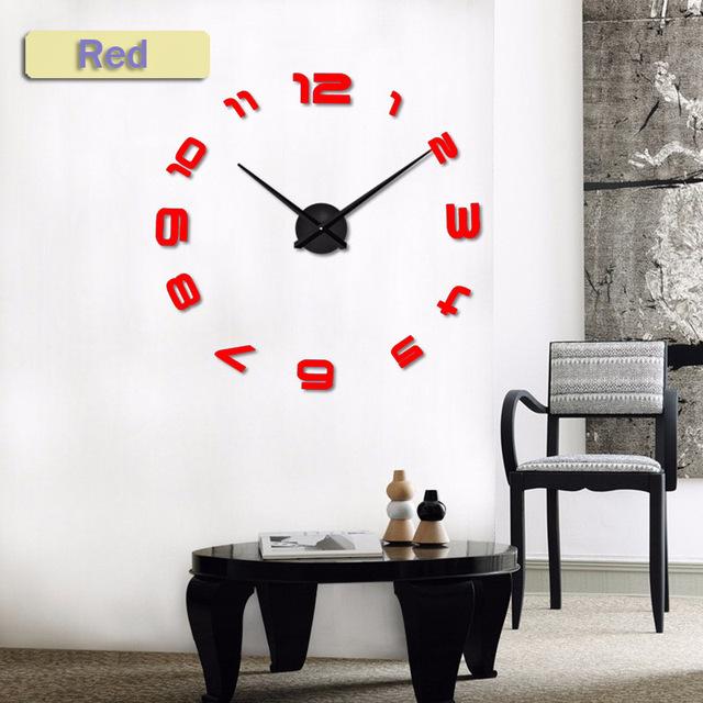2017 New  Silent Wall Clock Saat Classic Style Home Decor Decoration Living room Watches Fashion Brief Quartz Clock Large Clocks