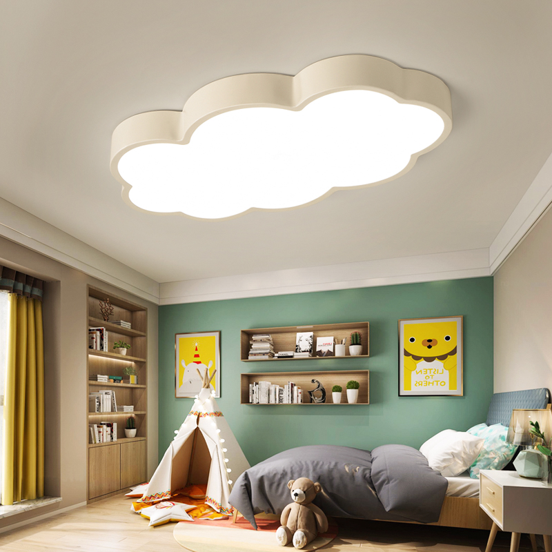 LED Cloud Ceiling Lights iron Lampshade luminaire Ceiling Lamp children Baby kids bedroom light fixtures Colorful lighting light-in Ceiling Lights from Lights & Lighting    2