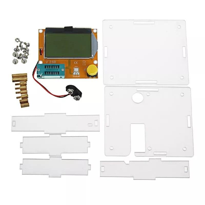 Тестер транзисторов LCR T4 Mega328, диодный триодный измеритель емкости ESR с корпусом|shell|   | АлиЭкспресс