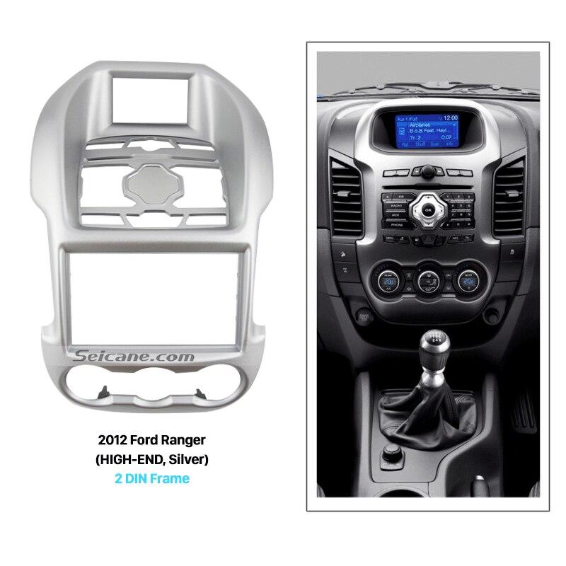 Seicane серебро 2Din автомобилей Радио Фризовая для 2001 2012 2013 Ford Ranger высокого класса DVD Панель аудио плеер Даш установка комплект