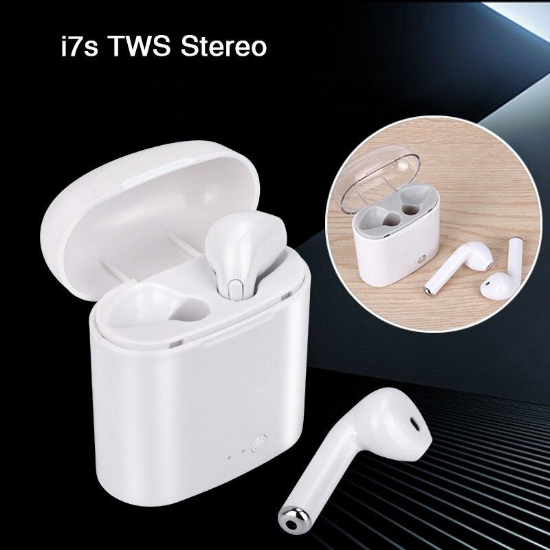 Mini Stereo I7S TWS Drahtlose Kopfhörer Bluetooth Kopfhörer Ohr Handys Fone De Ouvido für Telefon Wahre Drahtlose Ohrhörer Freisprecheinrichtung