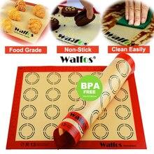 WALFOS антипригарный силиконовый коврик для выпечки Кондитерские инструменты раскатка теста коврик большой размер для торта печенья макарон