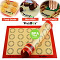 WALFOS Non-Stick Silicone Baking Mat Pad Sheet Baking pastry tools Rolling Dough Mat Large Size for Cake Cookie Macaron