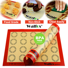 ФОТО Thick 425295mm or 16531161 Inch  Silicone Baking Mat Non Stick Pastry Rolling Mat Sheet Silicone Cake Pan Liner