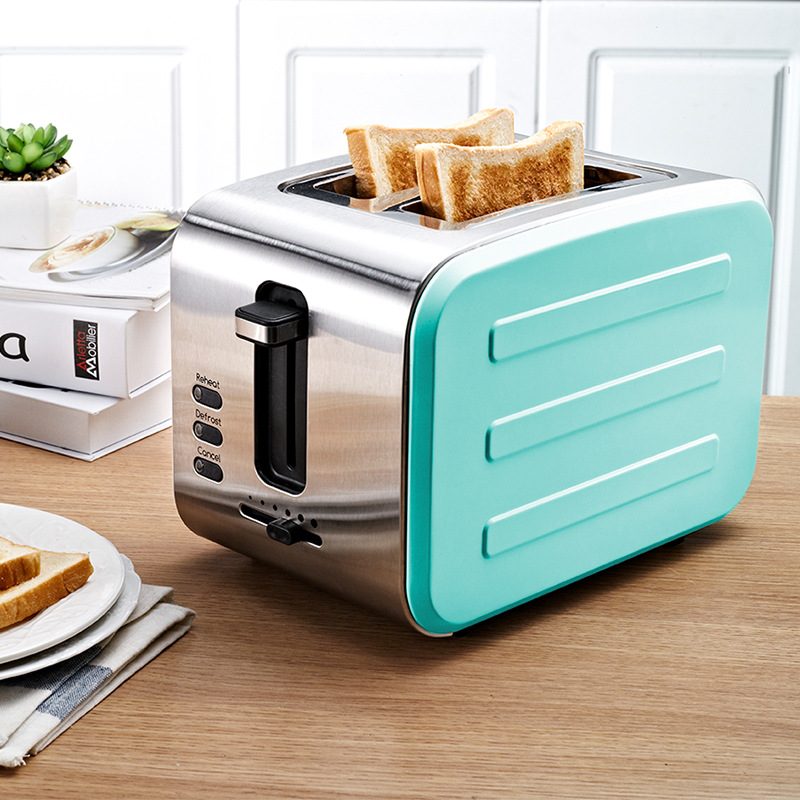 toaster 220V Stainless steel toaster bread Two pieces of bread household toaster grilltoaster 220V Stainless steel toaster bread Two pieces of bread household toaster grill