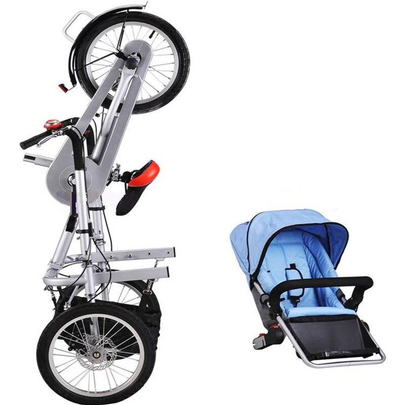 Bébé vélo poussette mère poussette poussette en acier au carbone enfants pliant enfant pas Taga vélo poussettes enfants vélo poussette