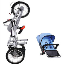 Baby Bicycle Stroller Mother Pushchait Stroller Carbon Steel Kids Folding Child Not Taga Bike Strollers Kids