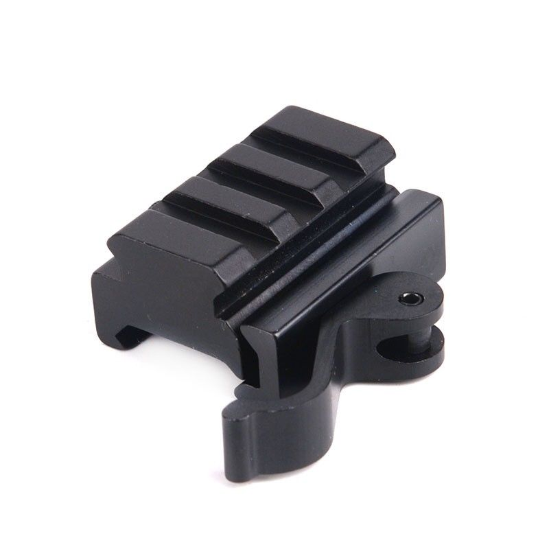 New Hunting Rifle Tactical Fast 20mm To 20mm QD Quick Release Mounting Adapter 3 Slots For 20mm Weaver Rail Base For Airsoft