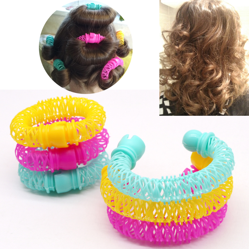 Image 3 - 8Pcs New Magic Hair Donuts Hair Styling Roller Hairdress Magic Bendy Curler Spiral Curls DIY Tool for Woman Hair Accessories-in Braiders from Beauty & Health