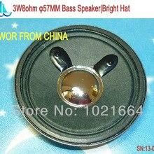 10pcs Acoustic Loudspeaker 8 Ohm 3W 57MM Bass Speaker Bright Hat