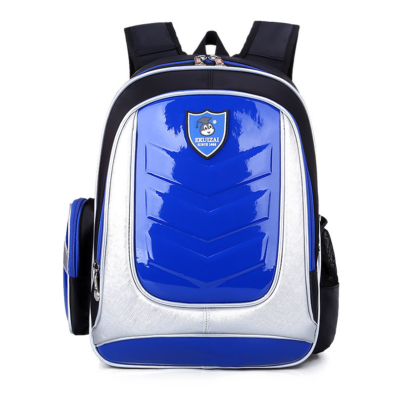 New 2016 Leather Backpack Orthopedic School bags For Boys/girl PU Waterproof Backpack Child Kids School bag Q1