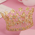 Crystal bride hair accessory wedding tiaras and crown for sale rhinestone pageant crowns head jewelry hair ornament