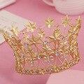 Crystal pelo de la novia accesorio de la boda tiaras y coronas para la venta rhinestone pageant crowns head joyería adorno para el pelo