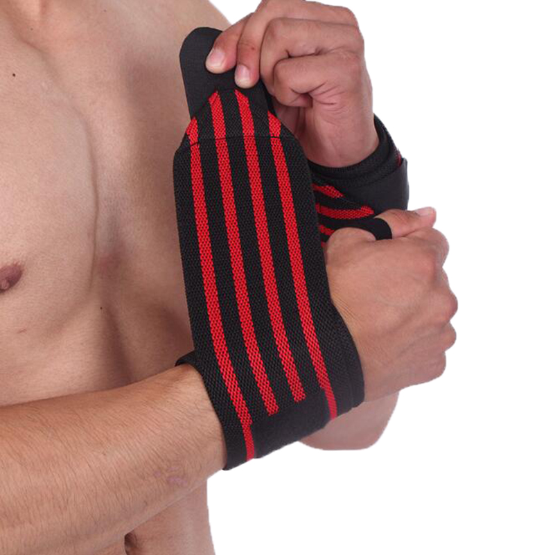 Weight Lifting Wrist Wraps Gym Straps Crossfit Bandage Bodybuilding Power Training Workout Exercise Wrist Support
