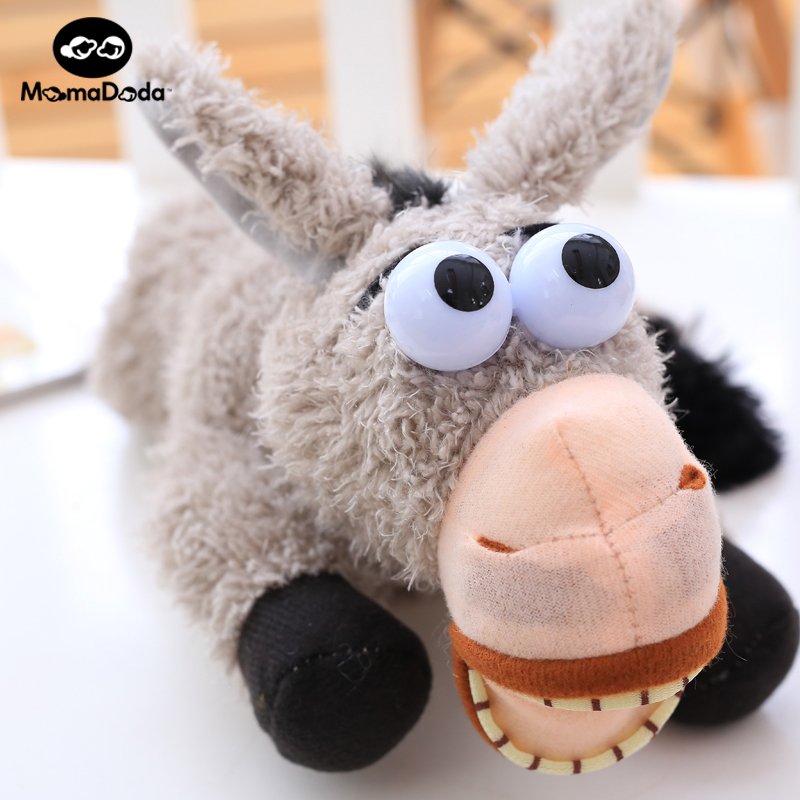 Plush stuffed electronic toys sounding interactive funny donkey doll soft toy for...