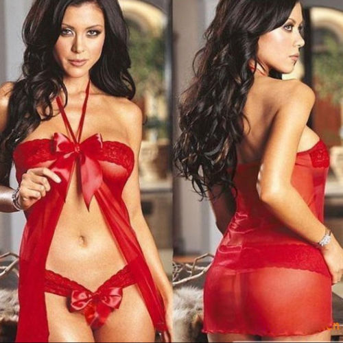 New Arrival Sexy Fashion Women's Lingerie Christmas Babydoll Sleepwear Fancy Dress Mini Santa Xmas Hot Sale