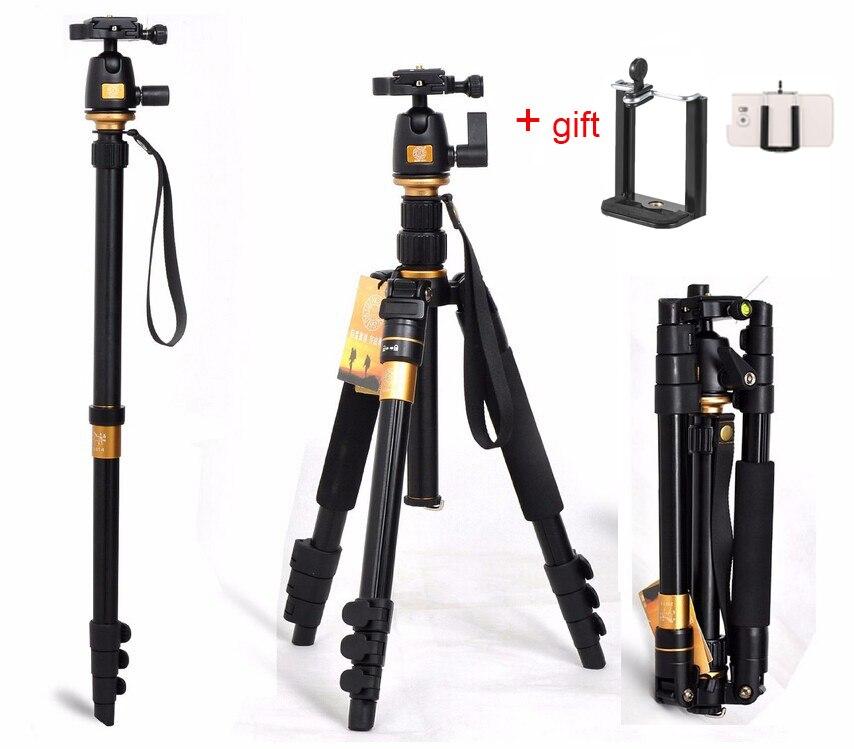 Portable 10 KG ours en aluminium monopode stand professionnel caméra trépieds pour reflex vidéo clip tripodes para reflex dslr trépied Q555