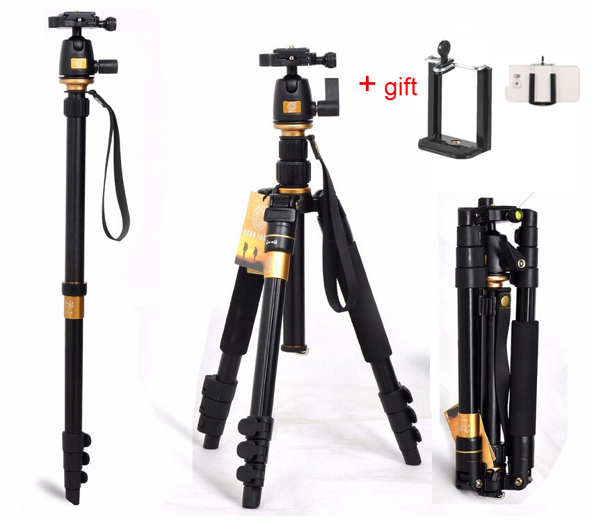 цена на Portable 10KG bear aluminium monopod stand professional camera tripods for slr video clip tripodes para reflex dslr tripod Q555