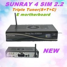 5 unids/a lot receptor de Satélite dm 800se v2 wifi triple tuner/Sunray SR4 v2 SUNRAY4 sr4 v2 V2 Sim2.20 wifi incorporado 400 Mhz CPU