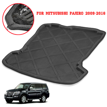 For Mitsubishi Pajero 2009-2016 Car Rear Boot Liner Trunk Cargo Mat Tray Floor Carpet Mud Pad Protector Interior Accessories image