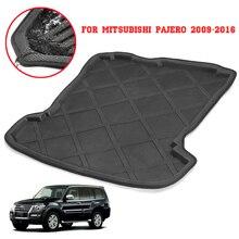 Для Mitsubishi Pajero 2009-2016 сзади автомобиля загрузки лайнер магистрали багажника ЛОТОК ковровое покрытие грязи Pad Protector подкладке аксессуары