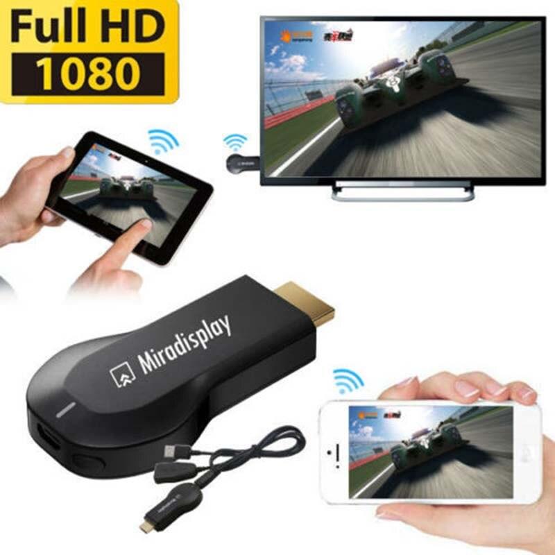 2017 Бесплатная доставка miradisplay AirPlay Mirroring DLNA 1080 P hd hdmi <font><b>plug</b></font> в Wi-Fi 2.4 г литые TV Stick Fit Android iOS смартфонов