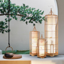 Creative personality of new Chinese bird cage floor lamps standing staande lamp led nordic floor lamps for living room Vloer(China)