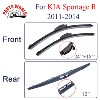 KIT Silicone Rubber Front And Rear Wiper Blade ForKIA Sportage R 2011 2014 Windscreen Wiper Car