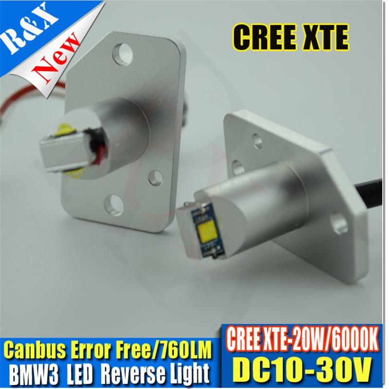 2pcs White 10V-30V XTE 760LM CANBUS Error Free LED Bulbs For BMW 3 Series Reverse Front Turn Signal Lights DRL Lamp 2 rilliant red 7507 py21w canbus led replacement bulbs for bmw f30 f32 3 4 series rear turn signal lights or brake tail lights