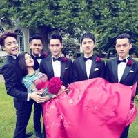 Black suit men's wedding brotherhood dress groomsmen suit business casual